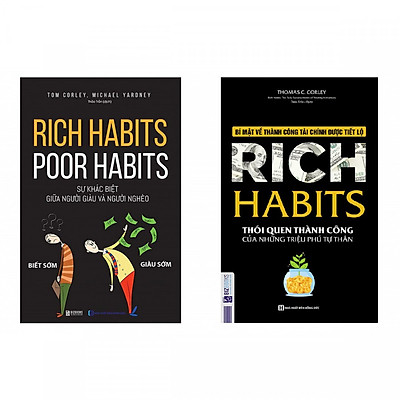 Combo 2 cuốn sách: Rich Habits - Thói Quen Thành Công Của Những Triệu Phú Tự Thân +  Rich Habits - Poor Habits Sự khác biệt giữa người giàu và người nghèo ( tặng kèm Bookmark Happy Life )
