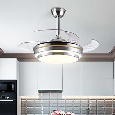 Quạt trần đèn phòng khách đẹp hiện đại