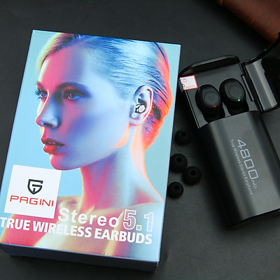 Tai nghe bluetooth PAGINI TWS S11 5.1 bản mới nhất – Đa chức năng cảm ứng nghe gọi, dừng bật nhạc, chuyển bài – Tích hợp sạc dự phòng với pin dock sạc 4800mAh – Hàng nhập khẩu