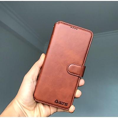 Bao da ốp lưng điện thoại dành cho samsung A51 A71 A52 A72 A32 kèm ví gập nắp da thật mềm mịn - azns