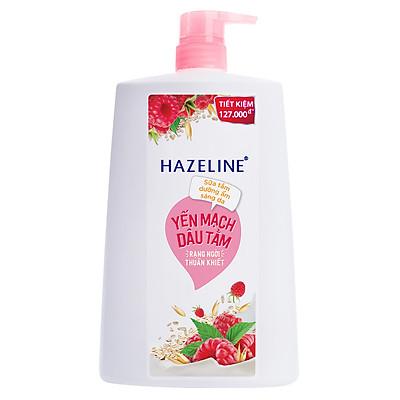 Sữa Tắm Dưỡng Thể Thiên Nhiên Trắng Sáng Da Hazeline Yến Mạch Dâu Tằm Dưỡng ẩm 1.2kg