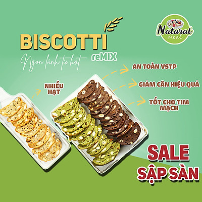 Bánh ăn kiêng Biscotti natural meall