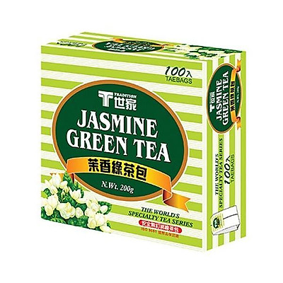 Trà xanh hương nhài Tradition 100 túi trà/ hộp