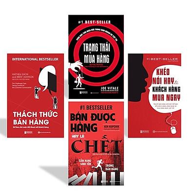 Combo 4 cuốn sách kỹ năng bán hàng tuyệt đỉnh dân sale nhất định phải đọc KZ : Trạng thái mua hàng + Bán được hàng hay là chết + Thách thức bán hàng +  Khéo Nói Hay Để Khách Hàng Mua Ngay
