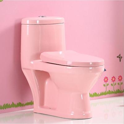 Bàn cầu vệ sinh cho trẻ em màu hồng