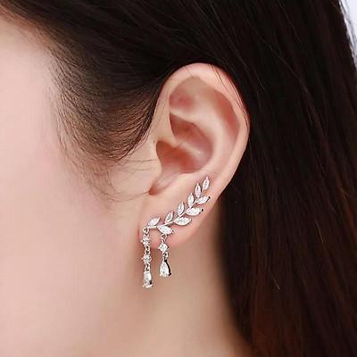 Bông tai bạc nữ kẹp vành - Bông kẹp vành tai bạc thời trang.