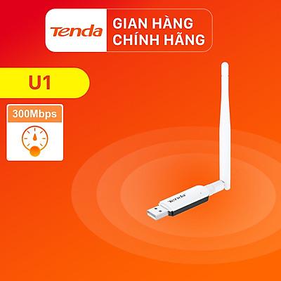 USB kết nối Wifi Tenda U1 tốc độ 300Mbps - Hàng Chính Hãng