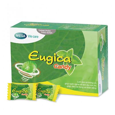 Kẹo thảo dược Eugica giảm ho và đau rát họng hiệu quả - Hộp 100 viên
