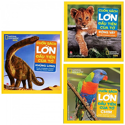 Combo cuốn sách lớn đầu tiên của tớ: Khủng long + Động vật + Chim- Combo sách là cuộc hành trình khám phá thế giới - Tặng kèm bookmark thiết kế AHA
