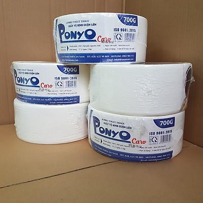 COMBO (5 cuộn) giấy vệ sinh cuộn lớn PONYO 700G - CARO