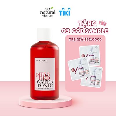Nước Hoa Hồng Cấp Ẩm Cho Mọi Làn Da So Natural Red Peel PH 5.5 Red Water Tonic 250ml