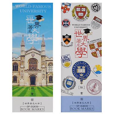 Hộp 32 Bookmark Đánh Dấu Sách Các Trường Đại Học Nổi Tiếng Thế Giới