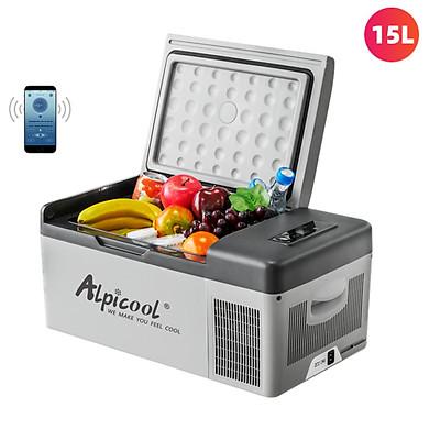 Tủ lạnh mini dùng trong nhà và trên ô tô nhãn hiệu Alpicool C15 - Hàng nhập khẩu