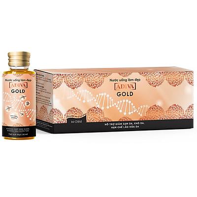 Tinh Chất Làm Đẹp Adiva Collagen Gold (14 Lọ / Hộp)