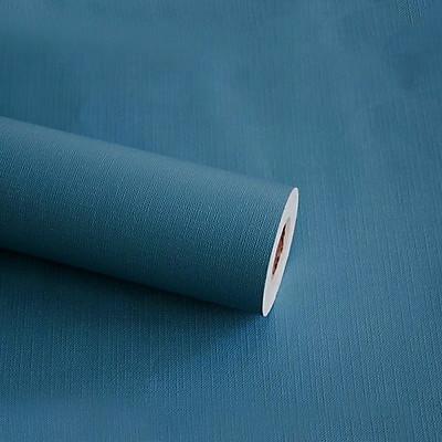 Cuộn 5m Decal Giấy Dán Tường màu xanh xám nhám (5m dài x 0.45m rộng)