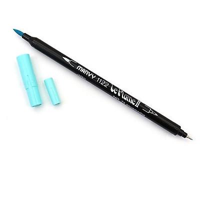 Bút lông hai đầu màu nước Marvy LePlume II 1122 - Brush/ Extra fine tip - Aquamarine (74)