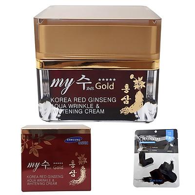 Kem MY GOLD RED GINSENG Hồng Sâm Cấp Ẩm TRẮNG DA Ngày Đêm AQUA 50g KOREA [ ĐƯỢC MASK 3W CLINIC ]