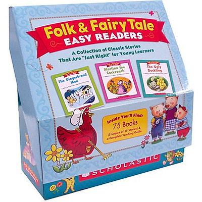 """Folk and Fairy Tale Easy Readers (A Collection of Classic Stories That Are """"Just-Right"""" for Young Learners) (Box set)"""