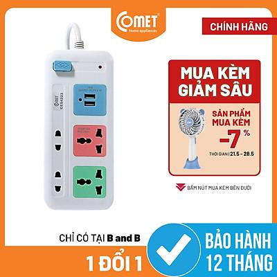 Ổ Cắm Nối Dài Cổng USB Comet CES4223 - 3 Mét - Hàng Chính Hãng