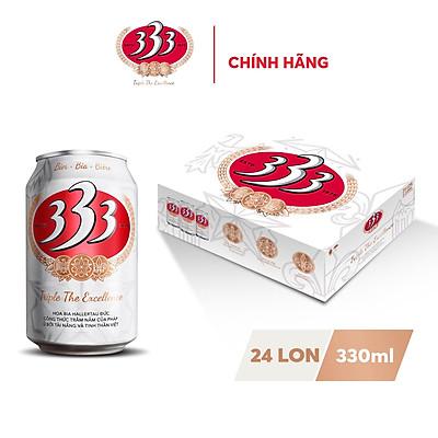 Thùng 24 Lon Bia 333 330ml