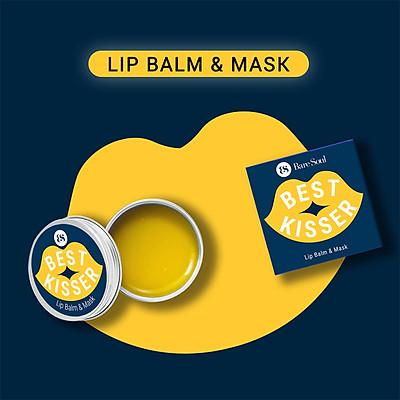 Son dưỡng môi không màu BareSoul Best Kisser Lip Balm & Mask hộp 10g