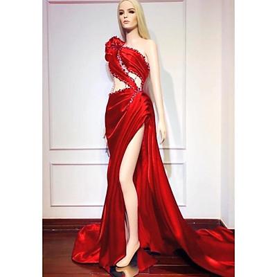 Đầm maxi body dạ hội dự tiệc sang trọng TRIPBLE T DRESS - size M/L (kèm ảnh/video thật) MS56Y