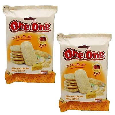 Combo 2 gói bánh gạo ngọt vị phô mai ngô One One ( 118g / gói )