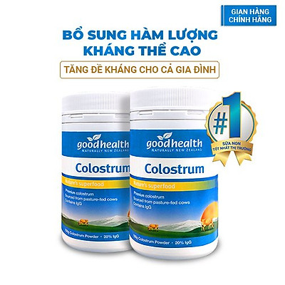 Combo 2 hộp sữa non Goodhealth Colostrum_Nhập khẩu chính hãng New Zealand