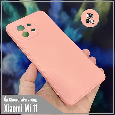 Ốp lưng cho Xiaomi Mi 11 Choice viền vuông dẻo lót nhung che camera
