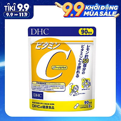 Thực Phẩm Chức Năng: Thực Phẩm Bảo Vệ Sức Khỏe DHC Vitamin C Hard Capsule - (90 Ngày)