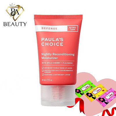 Kem đêm dưỡng da, làm trắng sáng, mềm mịn, dịu nhẹ Paula's Choice Defense Nightly Reconditioning Moisturizer 60ml