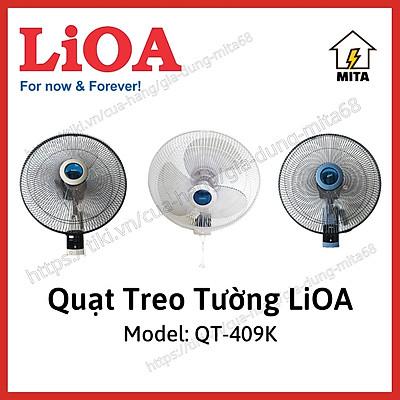Quạt treo tường có điều khiển QT-409K LiOA - MITA - Hàng Chính Hãng