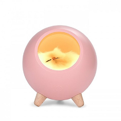 Đèn ngủ tổ ấm của mèo con siêu dễ  thương - pin sạc ( Hàng Cao Cấp)