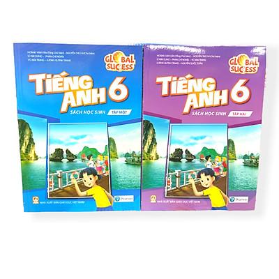 Bộ 2 cuốn sách Tiếng Anh lớp 6 sách học sinh (tập 1+2)