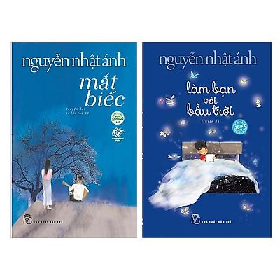 Combo 2 Cuốn Sách Của Nguyễn Nhật Ánh: Mắt Biếc (Tái Bản 2019) + Làm Bạn Với Bầu Trời tặng cuốn rèn kỹ năng cho bé