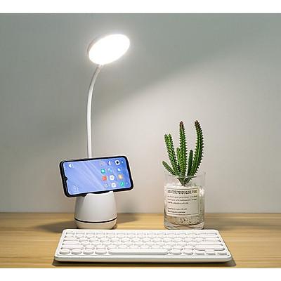Đèn led để bàn học sạc usb có kệ đựng bút hoặc điện thoại