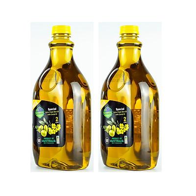 2 Chai Dầu Oliu hạt cải Kankoo 2 Lít