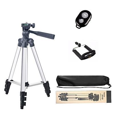 Chân máy ảnh Tripod 3110 tặng Giá kẹp điện thoại, Remote bluetooth và Túi đựng