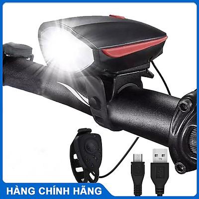 Đèn xe đạp thể thao KIOTOOL siêu sáng có còi pin sạc usb led T6 chống nước - Đèn còi xe đạp có 3 chế độ sáng còi to
