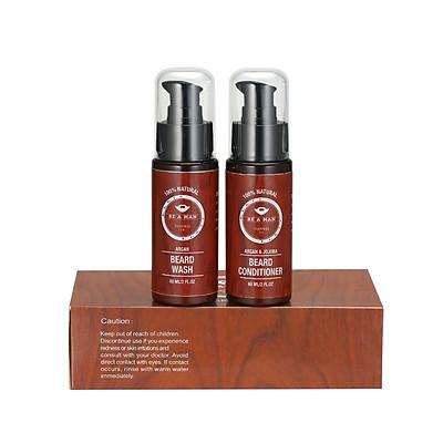Bộ đôi dầu gội và dầu dưỡng 60ml làm mềm, kích thích mọc râu cho nam