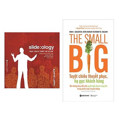 Combo Sách Kỹ năng Làm Việc :  Học Cách Thiết Kế Slide +  The Small Big – Tuyệt Chiêu Thuyết Phục, Hạ Gục Khách Hàng