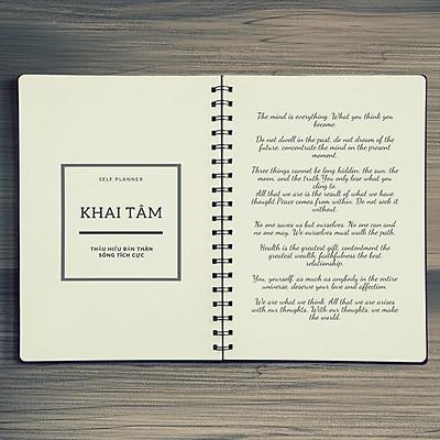 """Sổ tay planner nhật ký hàng ngày Khai tâm – quyển 1/4 trong bộ sổ """"Tỉnh thức"""" bởi Self-Planner- Giao Mẫu Ngẫu Nhiên"""