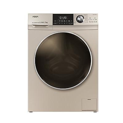 Máy giặt sấy AQUA AQD-DH1050C N, giặt 10.5kg, sấy 7kg, Inverter ( HÀNG CHÍNH HÃNG)