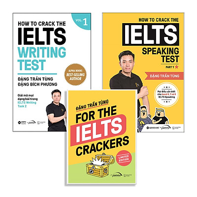 Bộ 2 Cuốn Để Chinh Phục Giấc Mơ IELTS : How To Crack The IELTS Speaking Test - Part 1 + How To Crack The IELTS Writing Test - Vol 1 (Tái Bản Đổi Bìa 2020) - Tặng kèm For The IELTS Crackers