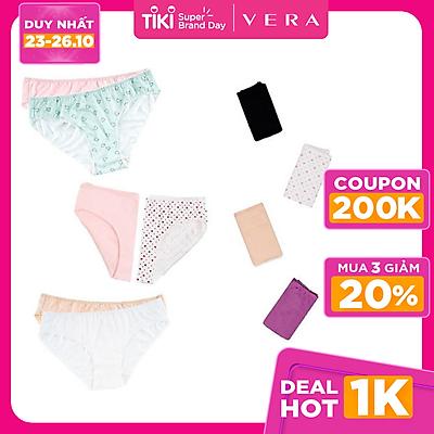Combo 06 quần lót nữ cotton họa tiết Vera