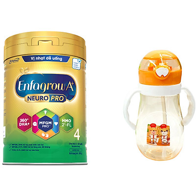 Bộ 1 lon Sữa bột Enfagrow A+ Neuropro 4 cho trẻ từ 2 – 6 tuổi – 830g (Bao bì mới) - Tặng bình nước dễ thương cho bé (Mẫu ngẫu nhiên)