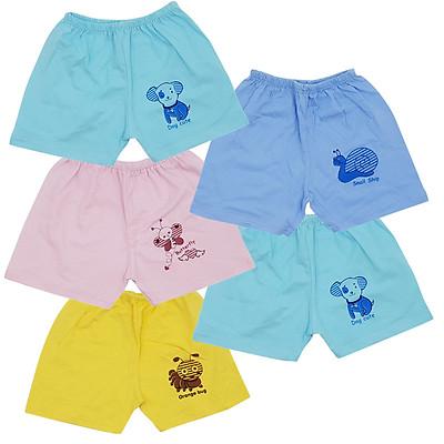 Combo 10 quần đùi cotton màu Thái Hà Thịnh cho bé trai, bé gái