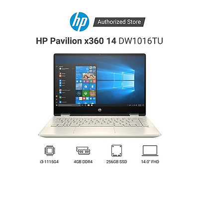 Laptop HP Pavilion x360 14-dw1016TU 2H3Q0PA i3-1115G4   4GD4   256GSSD   14.0FHDT   Hàng Chính Hãng