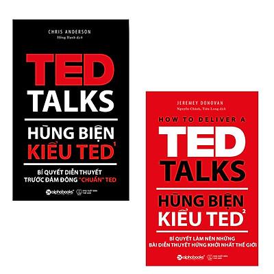 """Combo Hùng Biện Kiểu Ted: Hùng Biện Kiểu Ted 1 - Bí Quyết Diễn Thuyết Trước Đám Đông """"Chuẩn' + Hùng Biện Kiểu Ted 2 - Bí Quyết Làm Nên Những Bài Diễn Thuyết Hứng Khởi Nhất Thế Giới"""