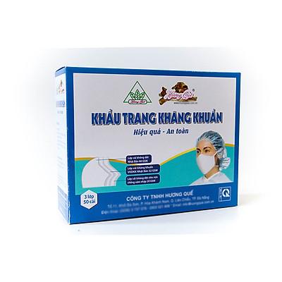 Khẩu Trang kháng khuẩn Hương Quế 3 lớp làm từ vải không dệt Nhật Bản giúp kháng khuẩn có thể giặt và tái sử dụng 3-5 lần và không thấm nước.